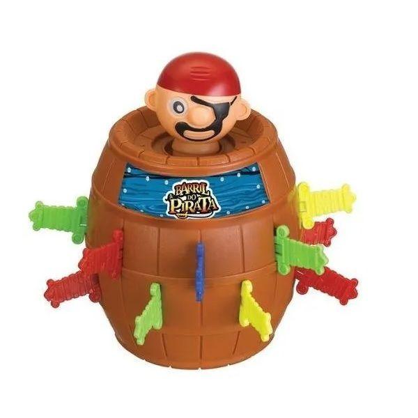 Barril Pula Pirata Brinquedo Novo Na Caixa - Jogo Infantil