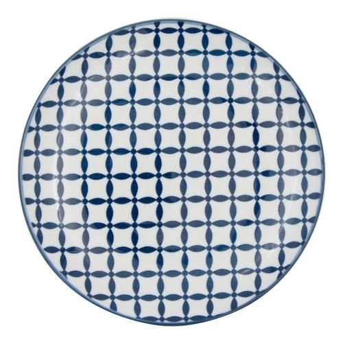 Prato Decorativo Porcelana Geometric Star Azul Urban