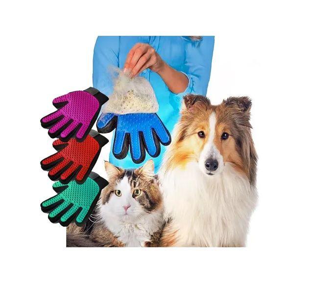 Luva Nano Magnético Tira Pelos Escova P/ Pets Cães Gatos