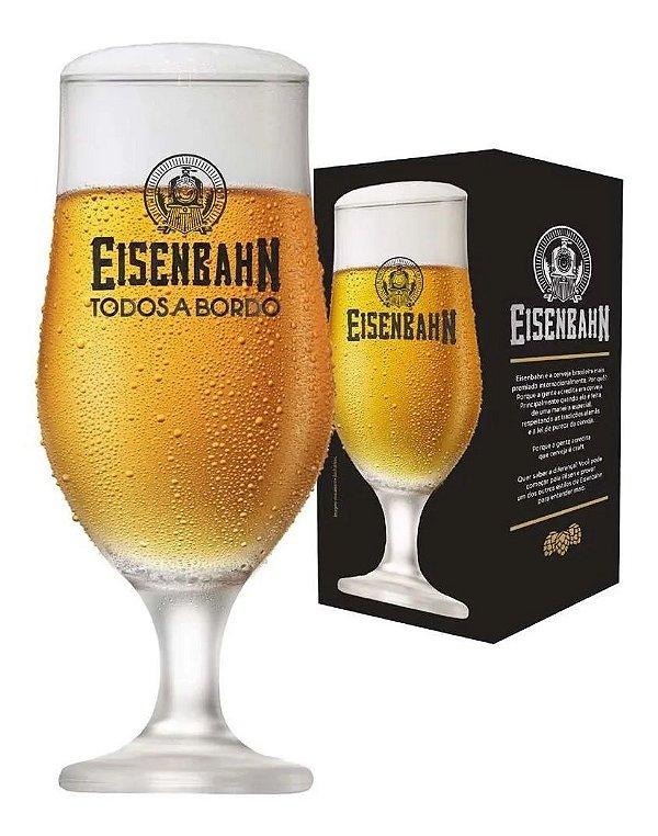 Taça Cerveja Oficial Vidro Eisenbahn Todos A Bordo 330ml