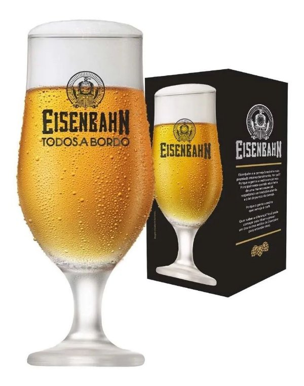 Kit 3 Taças De Cerveja Eisenbahn Todos A Bordo Pilsen