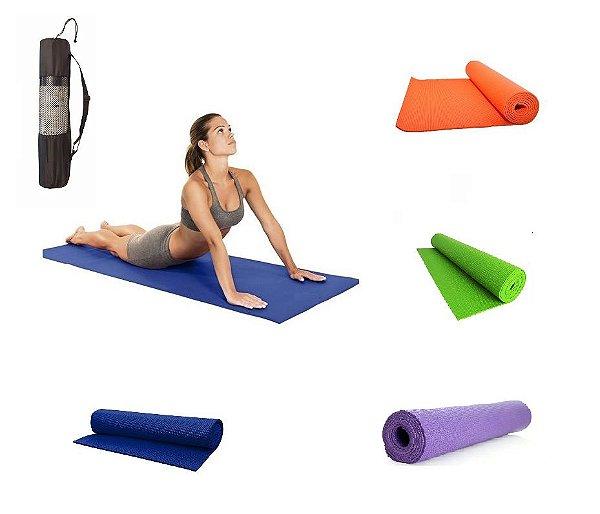 Tapete / Colchonete Para Yoga, Pilates E Ginástica Com Bolsa