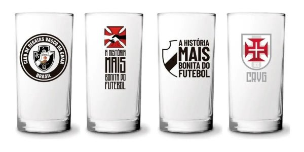Conjunto 4 Copos Long Drink 300ml Do Vasco