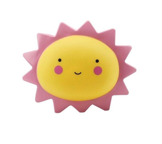 Luminária / Abajur De Led Sol Para Decoração Infantil