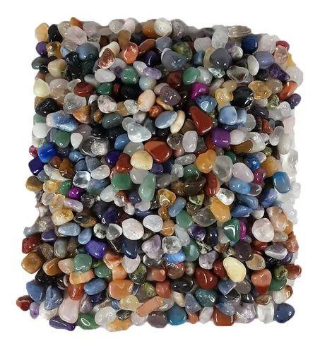1kg Pedra Rolada Natural Sortida Mista - Atacado 1-2cm