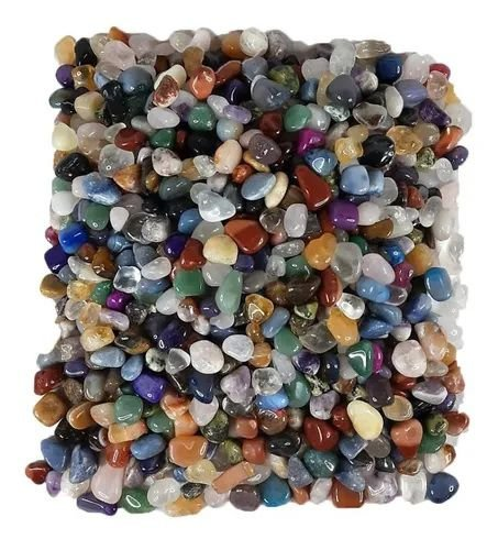250g Pedra Rolada Natural Sortida Mista - Atacado 1-2cm