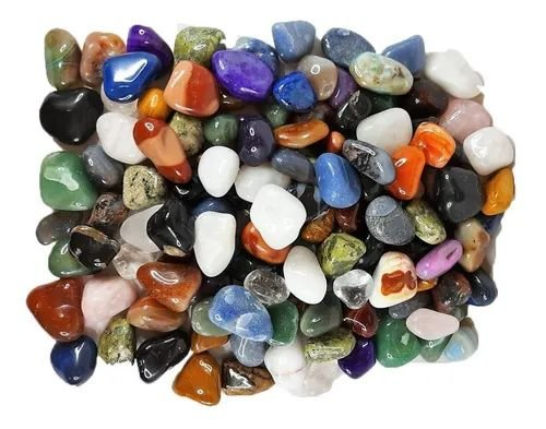 500g Pedra Rolada Natural Sortida Mista - Atacado 3-4cm