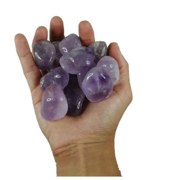 1kg De Pedra Rolada De Ametista Natural Grande 3-6cm