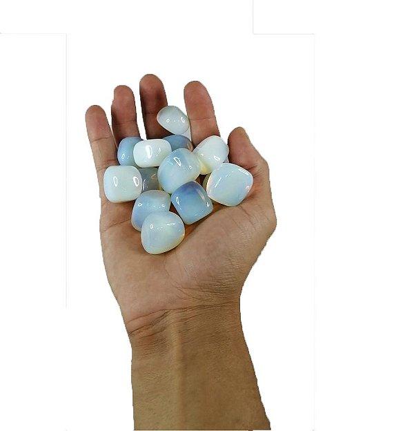 100g De Pedra Rolada Opalina - Pedra Da Lua - Qualidade A
