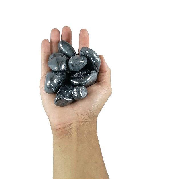 250g De Pedra Rolada De Hematita Natural - Grande