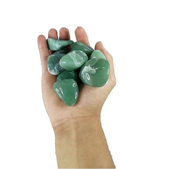 1kg De Pedra Rolada De Quartzo Verde Natural Grande