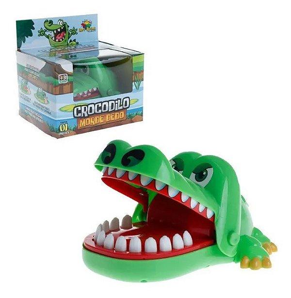 Brinquedo Jogo Crocodilo - Desafio Dentista Acerte O Dedo Do Jacaré