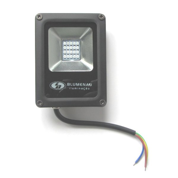 Refletor LED 10W Aluminio IP65 Luz Branca 74106000 Blumenau