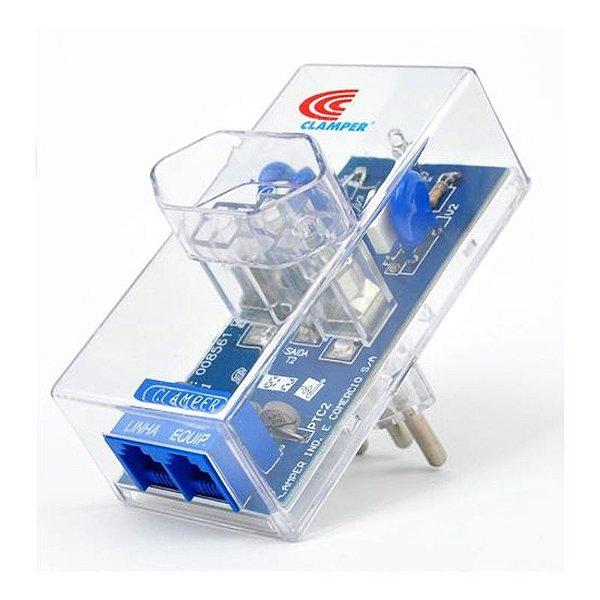 Protetor Surtos Raios DPS Energia + Tel Modem 8528 Clamper