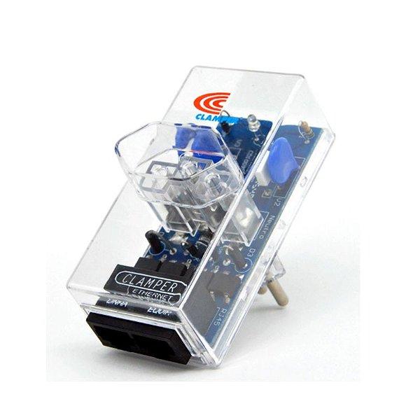 Protetor Surtos Raios DPS Energia e Rede Ethernet RJ45 10746 Clamper