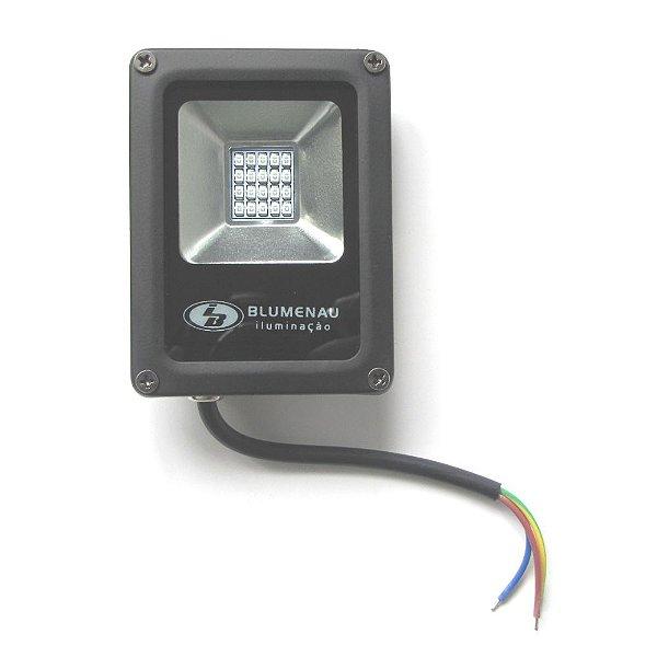 Refletor LED 10W Aluminio IP65 Luz Verde 74105000 Blumenau