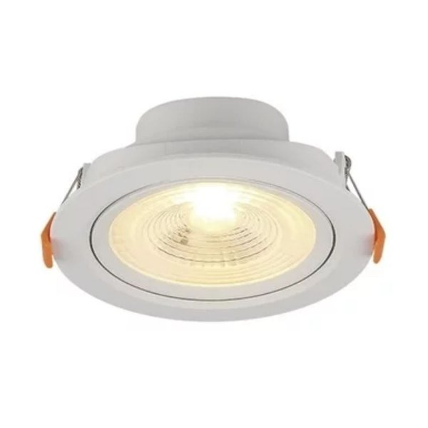 Spot Embutir Redondo LED 6W ABS Bivolt Luz Branca 80166004 Blumenau