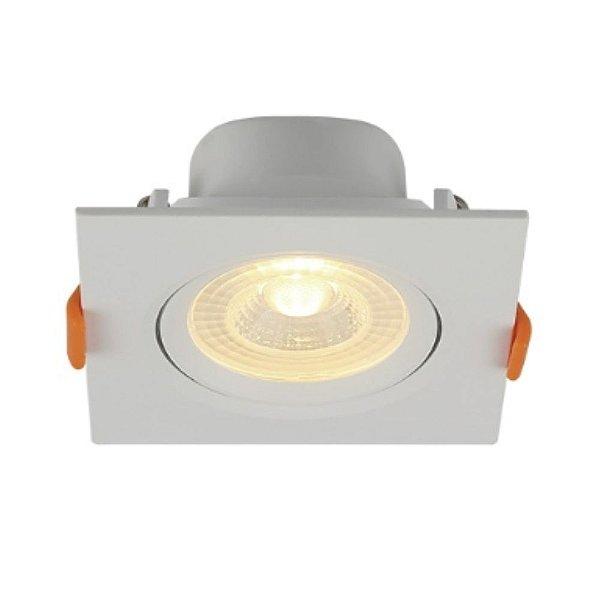 Spot Embutir Quadrado LED 6W PP Bivolt Luz Branca 80266004 Blumenau