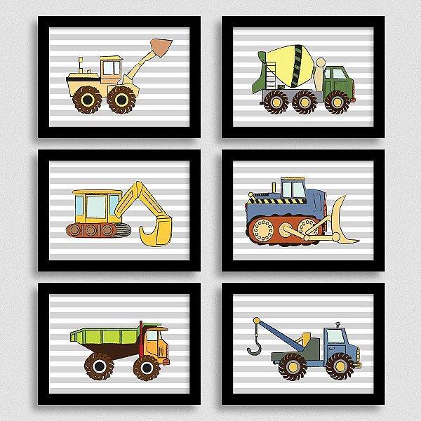 Quadros Quarto de Menino Caminhões e Tratores