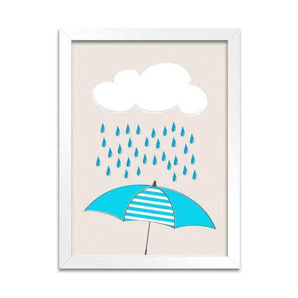 Quadro Guarda-Chuva Azul