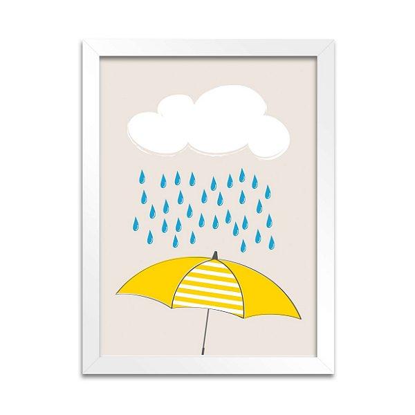 Quadro Guarda-Chuva Amarelo