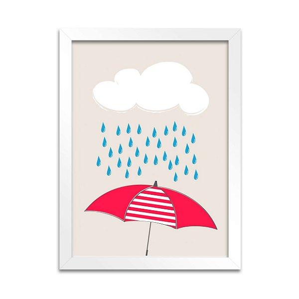 Quadro Guarda-Chuva Vermelho