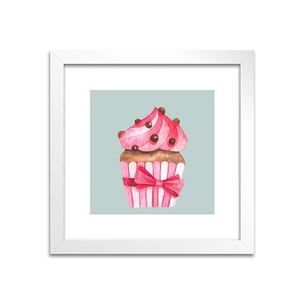 Quadro Cupcake Laço