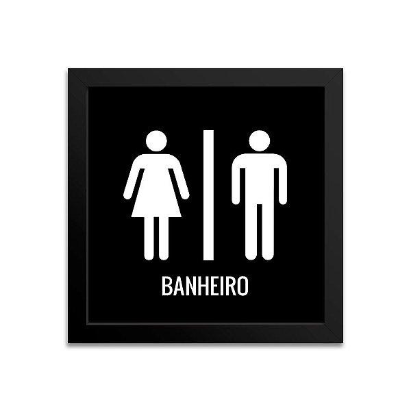 Quadro para banheiro - Preto