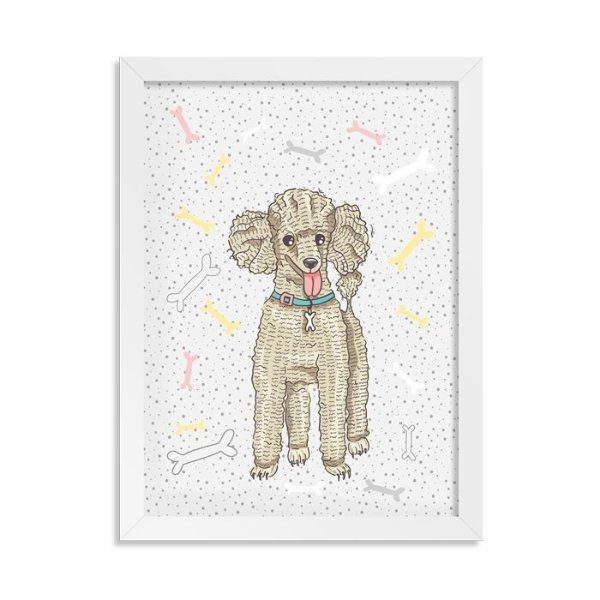 Quadro Doguinhos Poodle