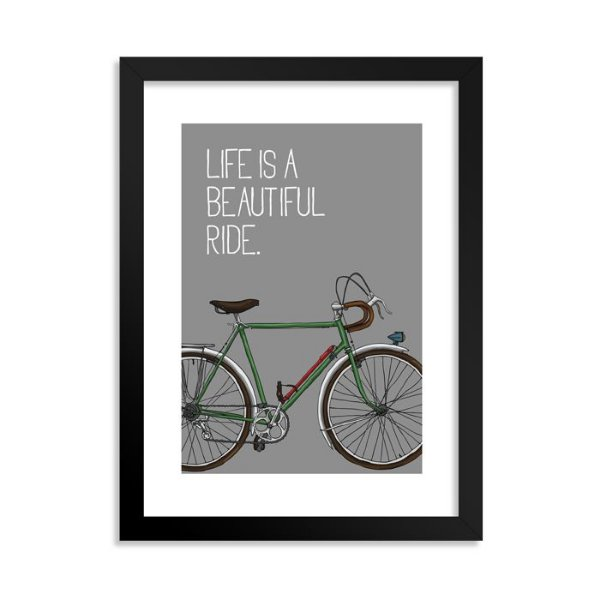 Quadrinho Bicicleta Beautiful Cinza