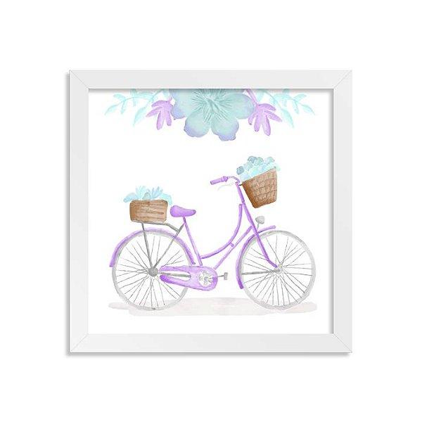 Quadrinho Bicicleta Aquarela