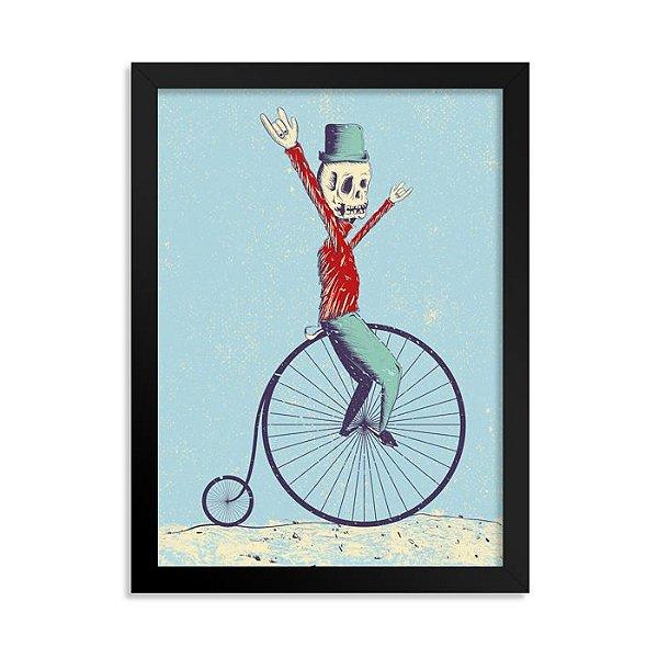 Quadrinho Bicicleta Caveirinha
