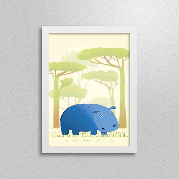 Quadro Safari Hipopótamo