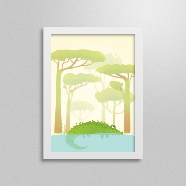 Quadro Safari Crocodilo