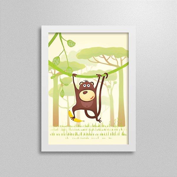 Quadro Safari Macaco