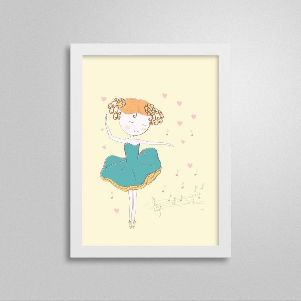 Quadro Pequena Bailarina 3