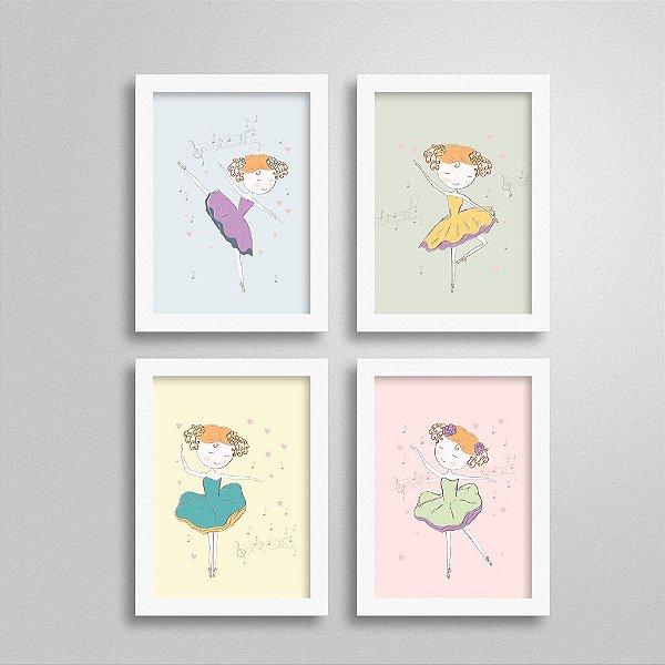 Kit Quadro Pequena Bailarina