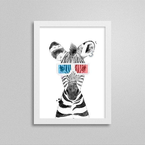 Quadrinho Safari Baby Zebra