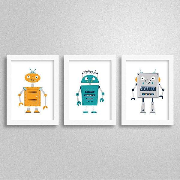 Kit Quadrinhos Decorativos Robô - M1