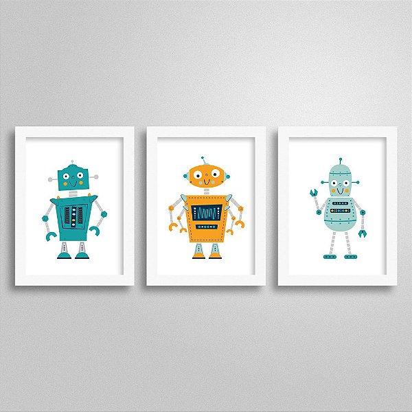 Kit Quadrinhos Decorativos Robô - M2