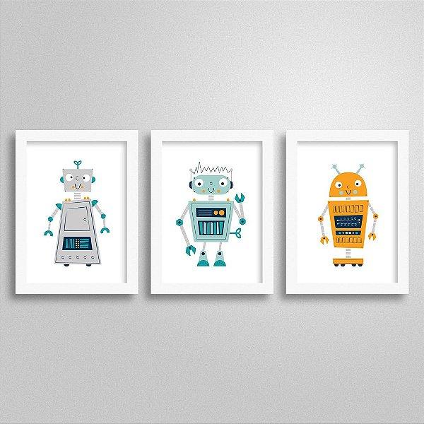 Kit Quadrinhos Decorativos Robô - M3