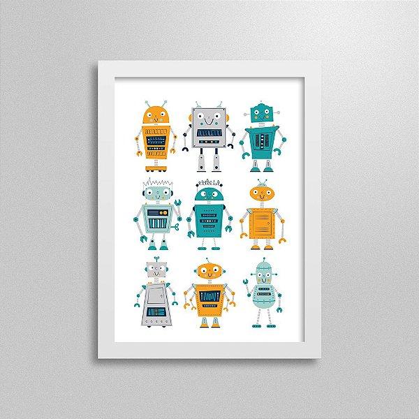 Quadro Decorativo Robôs - 9X