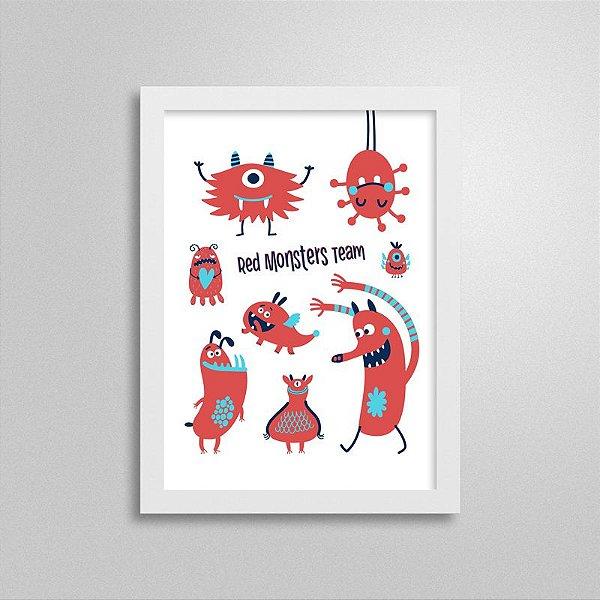 Quadro Decorativo Red Monsters Team