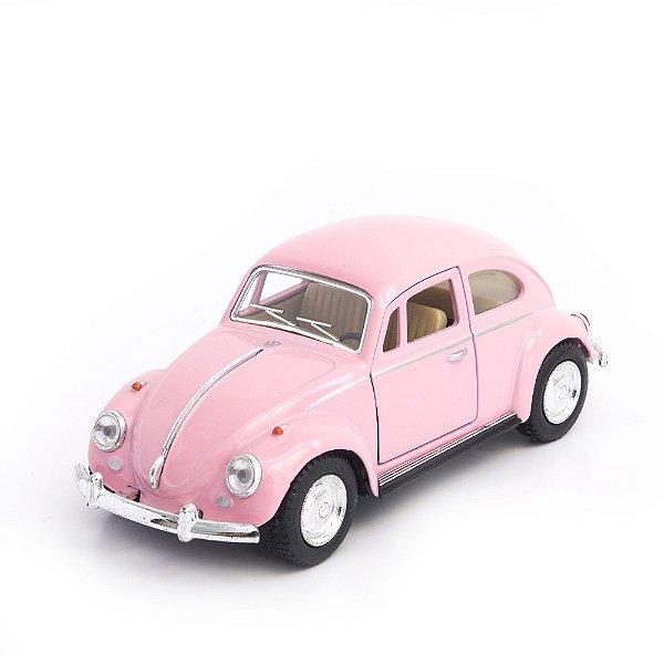 Miniatura Fusca Rosa - Decoração Quarto De Menina