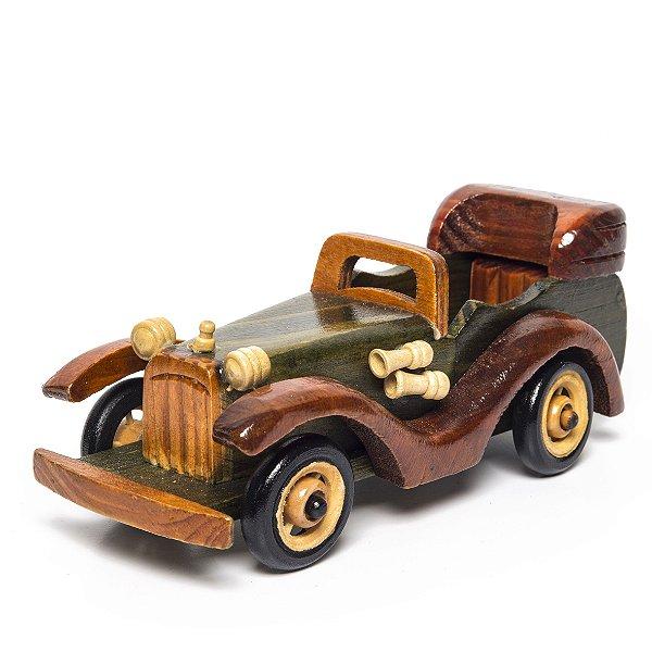 Miniatura Carro de Madeira - Decoração Quarto de Bebê - 01