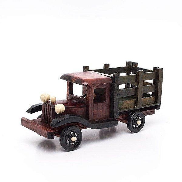 Miniatura Caminhão de Madeira - Decoração Quarto Bebê - 05