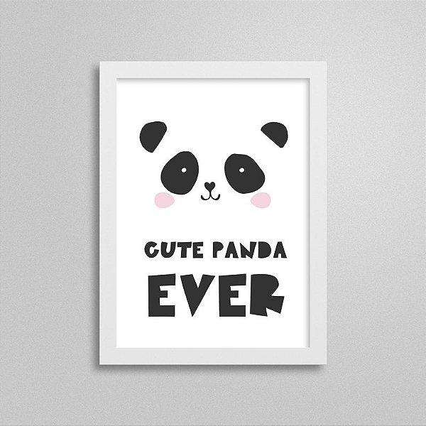 Quadrinho Escandinavo Cute Panda