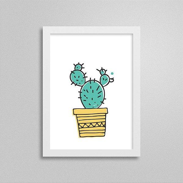 Quadrinho Escandinavo Cactus