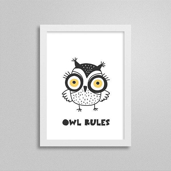 Quadrinho Escandinavo Owl Rules