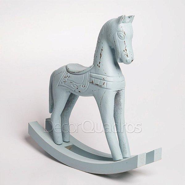 Cavalo de Balanço em Madeira - Azul